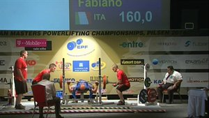 FABIANO FULVI - 1° BENCH PRESS - 160 KG